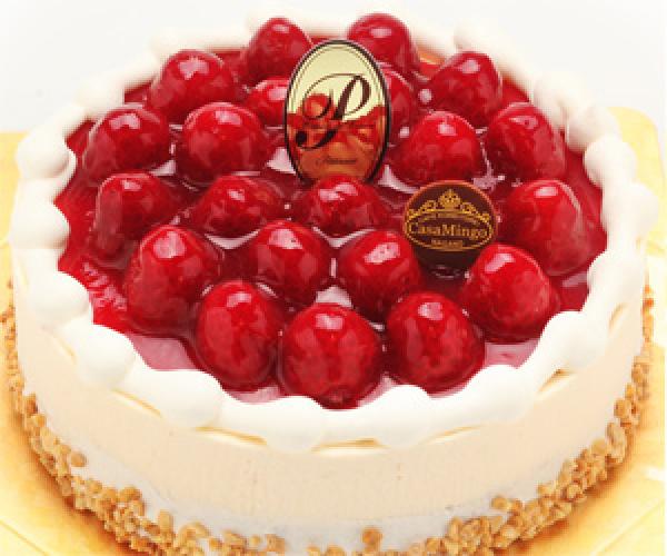 最高級洋菓子 シュス木苺レアチーズケーキ 直径15cm ¥4,000